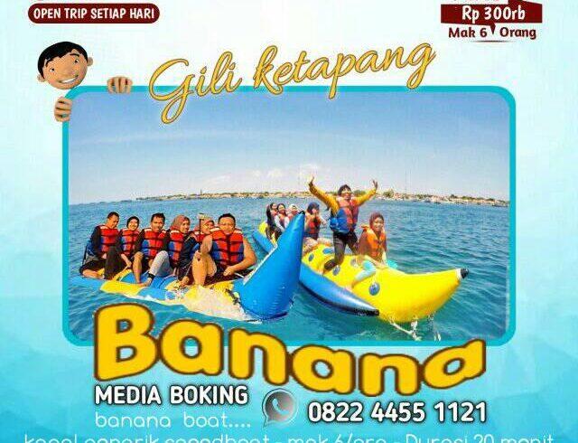 paket banana boat gili ketapang